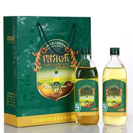 油茶籽油压榨一级 1Lx2有机礼盒